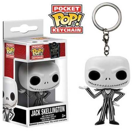 FUNKO POCKET POP! KEYCHAIN: THE NIGHTMARE BEFORE CHRISTMAS - JACK SKELLINGTON - Halloweentown Nightmare Before Christmas