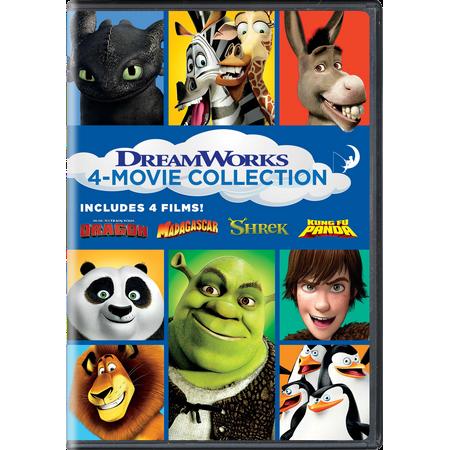 DreamWorks 4-Movie Collection (How to Train Your Dragon / Madagascar / Shrek / Kung Fu Panda) (DVD) (Garland Dollar Movies)