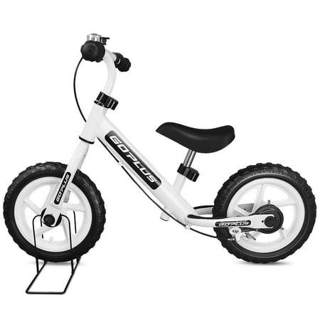 Goplus 12'' White Kids Balance Bike Children Boys & Girls with Brakes and Bell Exercise (White Louis Bike Jersey)