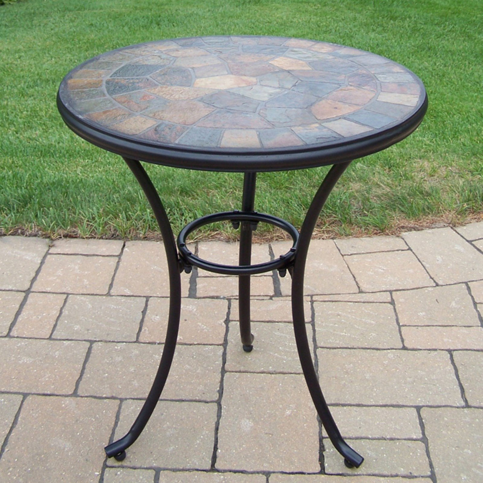 Oakland Living Stone Art 24 in Patio Bistro Table Walmart