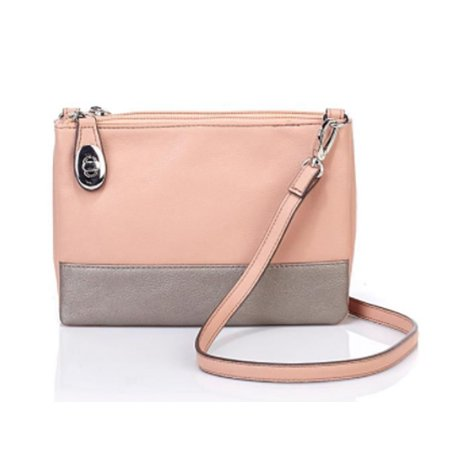 TravelSmith RFID-Blocking Convertible Crossbody Bag  ~ Blush/Gray