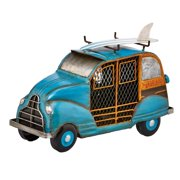 DecoFLAIR Table Fan Single-Speed Electric Circulating Fan, Blue Woody Car Figurine Fan
