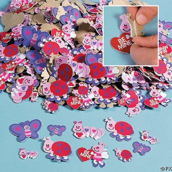 500 VALENTINE LOVE Bug HEART FOAM STICKER Shapes/ARTS & Crafts/SCRAPBOOKING Supplies/SELF ADHESIVE/HOLIDAY/VALENTINE'S D