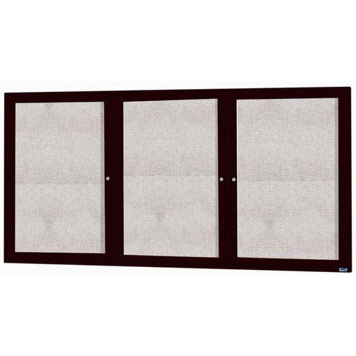 AARCO Enclosed Bulletin Board with Frame