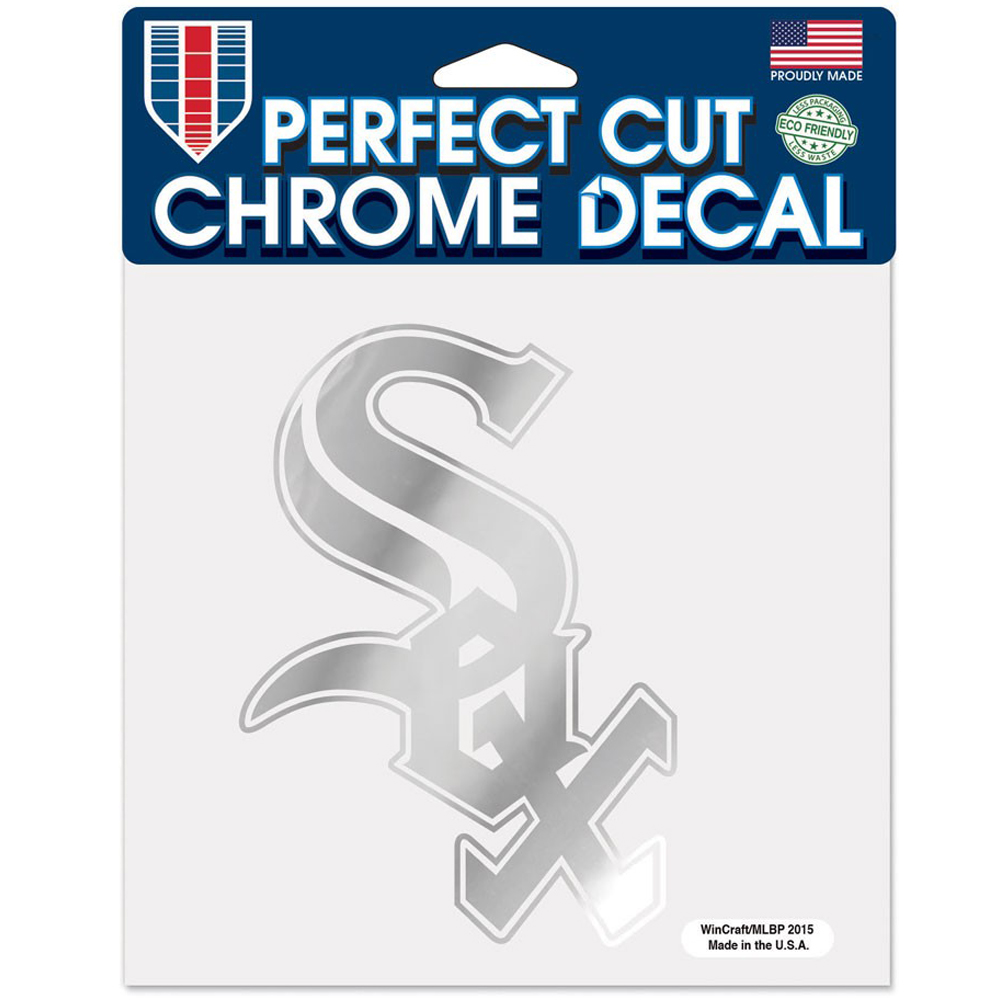 "Chicago White Sox WinCraft 6"" x 6"" Chrome Decal - No Size"