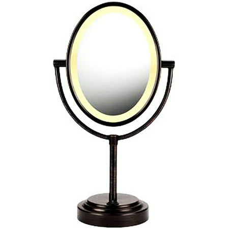Conair BE47BR Double Sided Oval Lighted Makeup/Shaving mirror, Bronze