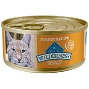 Blue Buffalo Wilderness Turkey High Protein Grain Free Wet Cat Food, 5.5 oz. Cans, 24 Pack