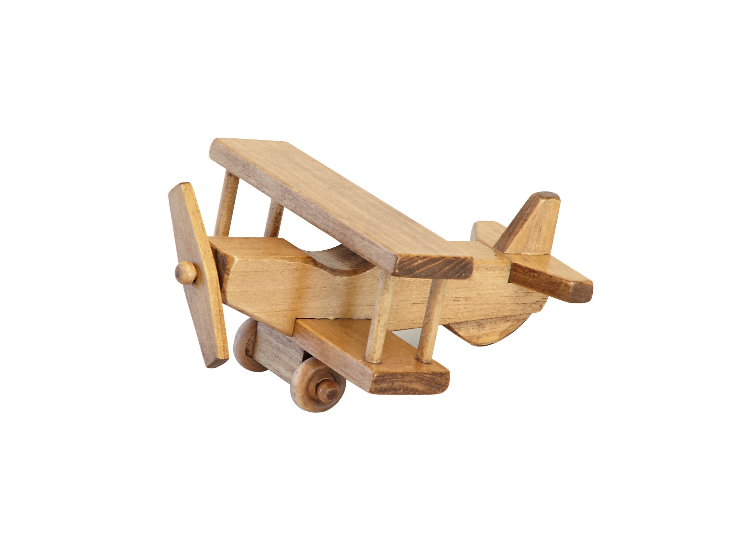 amishtoybox wooden toy airplane, kid-safe finish