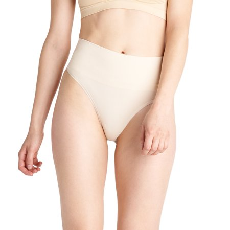 Essentials by Tummy Tank Seamless Shaping Thong (Best Dress Shape To Hide Tummy)