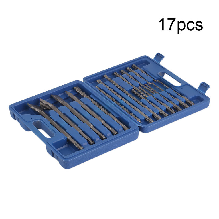 17PCS Electric Hammer Drill With Chisel Set For SDS Hammer Drilling Tool on Clearance