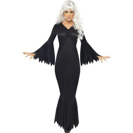 Midnight Vamp Costume (Smiffys 21777M Midnight Vamp Costume with Gown, Black -)