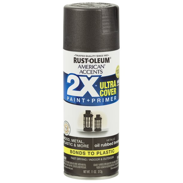 (3 Pack) Rust-Oleum American Accents Ultra Cover 2X Metallic Oil Rubbed Bronze Spray Paint and Primer in 1, 11 oz