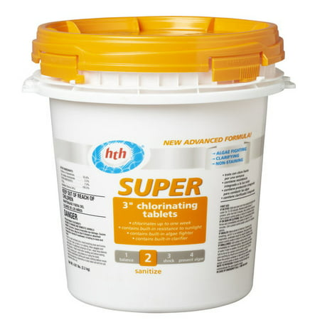 Hth Super 3 Quot Chlorinating Tablets 4 81 Lb Walmart Com