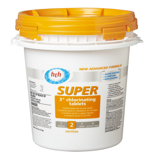 "HTH Super 3"" Chlorinating Tablets, 4.81 lb"