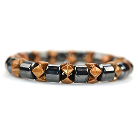 Fashion Jewelry Magnetic therapy Hematite Gold Stretch bracelet