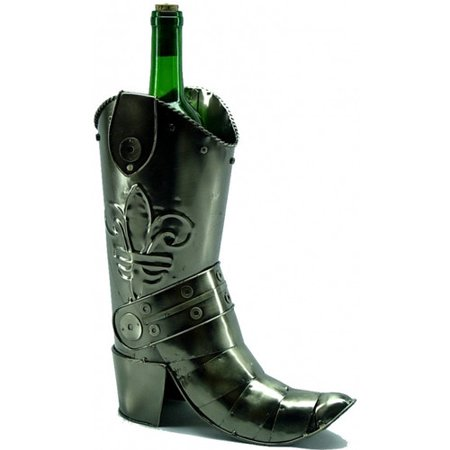 Three Star Im/Ex Inc. Cowboy Boot 1 Bottle Tabletop Wine Rack for $<!---->