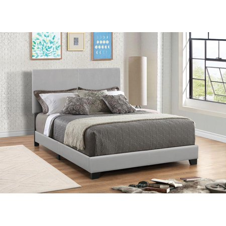 Dorian Grey Faux Leather Upholstered California King Bed Bed California King Chocolate