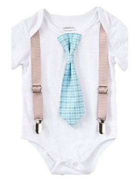 d7807682ca0 Product Image Baby Boys Newborn Coming Home From The Hospital Outfit Blue  Plaid Tie 12-18 Months