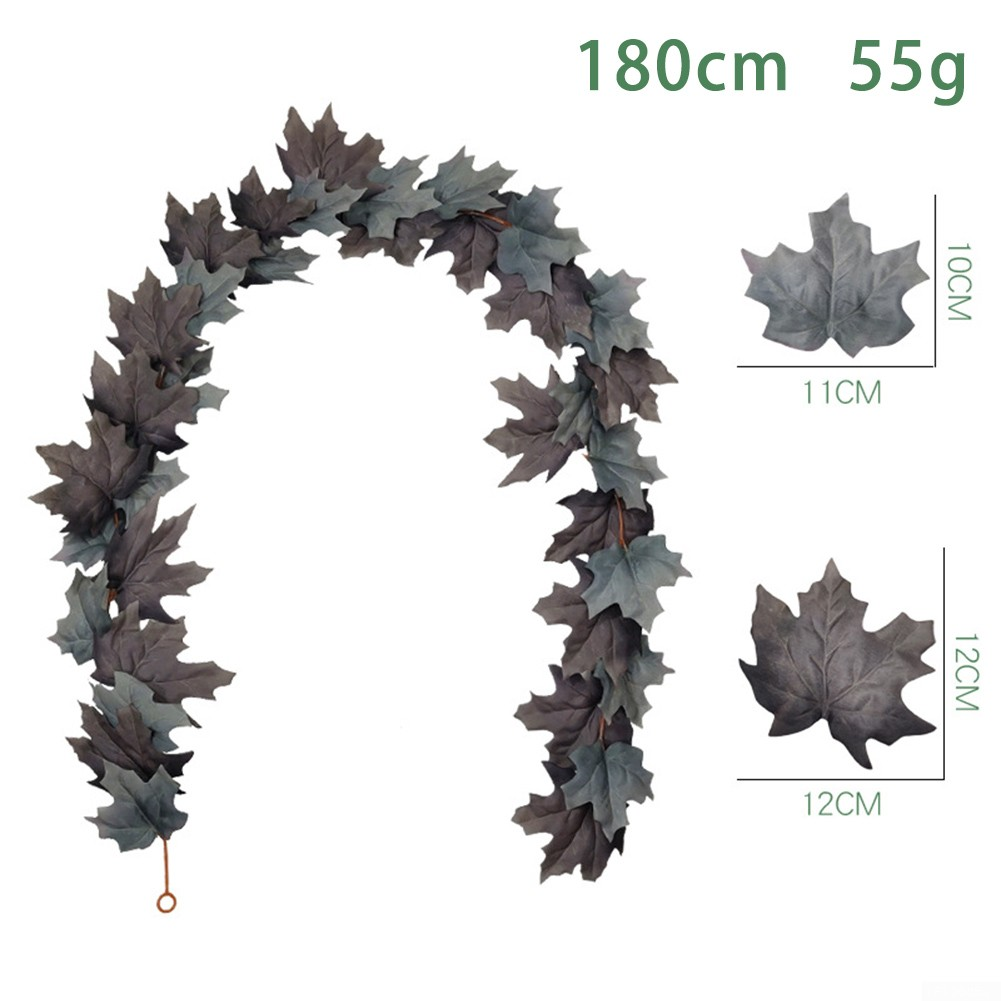 Artificial Maple Leaf Garland Autumn Fall Leaves Thanksgiving Hanging Decor