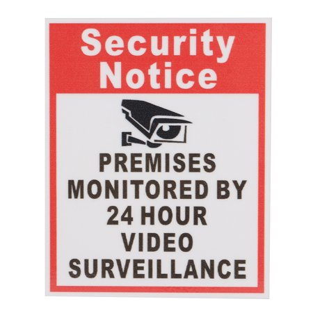 10pcs Security Notice Premises Monitored 24 Hour Video Surveillance Sign Sticker Safety Signs Decal - image 6 de 9