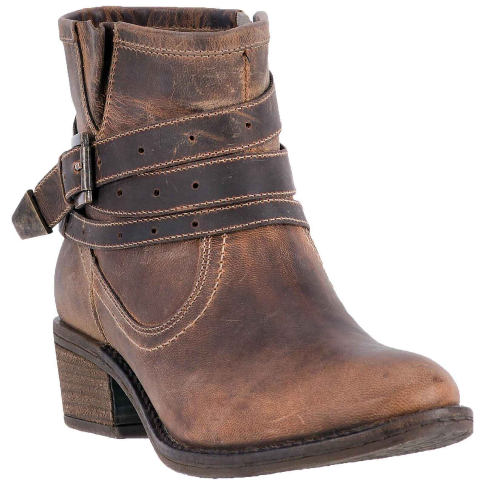 "Dingo Ladies 5"" Leather Boots Tan Bay Ridge Round Toe, DI 658 by Dingo"