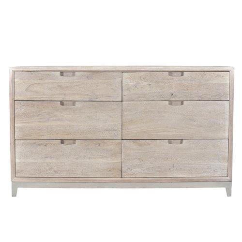 Gracie Oaks Loyd 6 Drawer Double Dresser