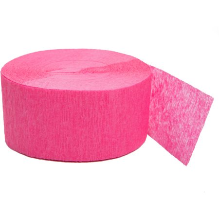 (4 Pack) Crepe Paper Streamers, 81 ft, Bright Pink, 1ct - Colourful Streamers