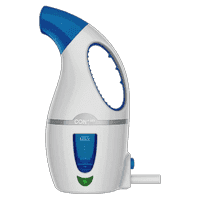 Conair GS2 Complete Steam Fabric Steamer for Travel, College, Apartments and Dorms; 1110W; White/Blue