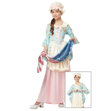 Girls Colonial Lady Costume - Colonial Girl