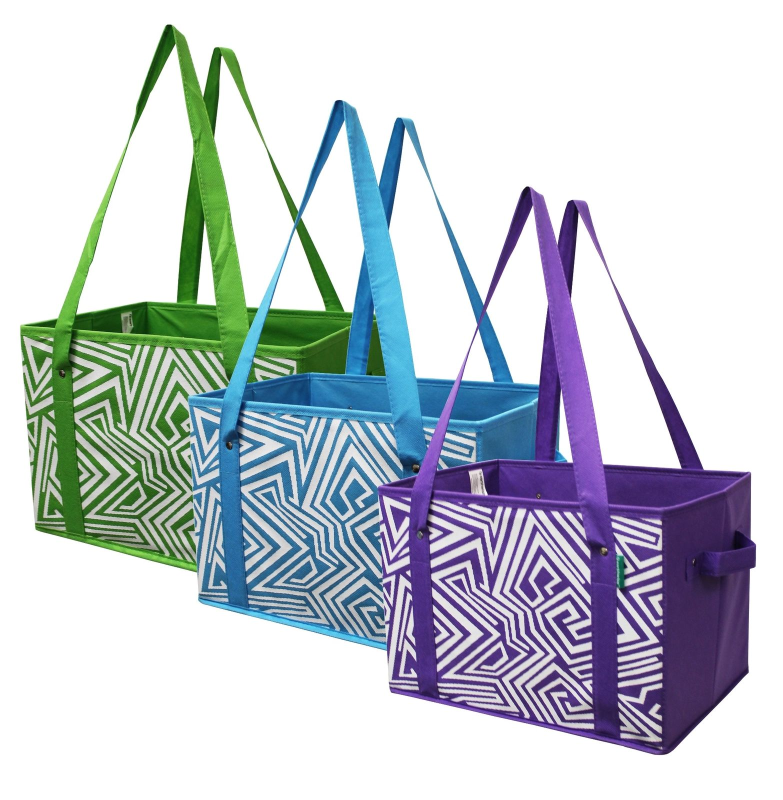 Dailylike Separate Recycling Bins Bags Reusable Grocery Multi Purpose Shopping Bag for Kitchen Office Home Set of 3 Dog