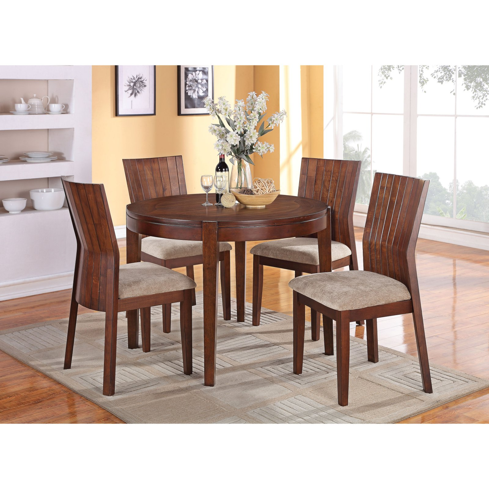 ACME Mauro Dining Table, Dark Brown by