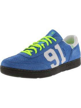 Salming Men's Ninetyone Cyan Blue Ankle-High Suede Sneaker - 14M
