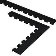 Norsk NSTKBLK Flooring Trim Kits for PVC Tiles, Black