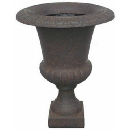 Williams Bay F069B-137 Havana Urn Fiberglass Planter, Iron Ruse, (Fiberglass Resin Urn)