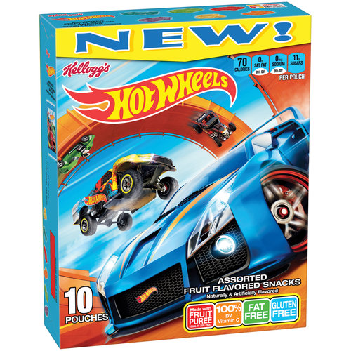 (4 Pack) Kellogg's Hot Wheels Fruit Snacks 10ct