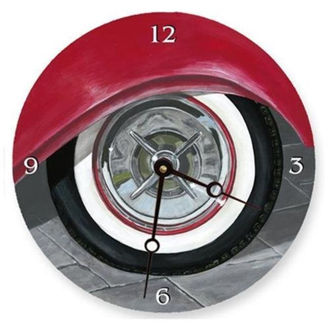 Lexington Studios 23-Round Clock:23077R White Wall Tire Round Clock