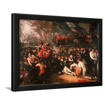 The Death of Nelson, 1806 Framed Print Wall Art By Benjamin West