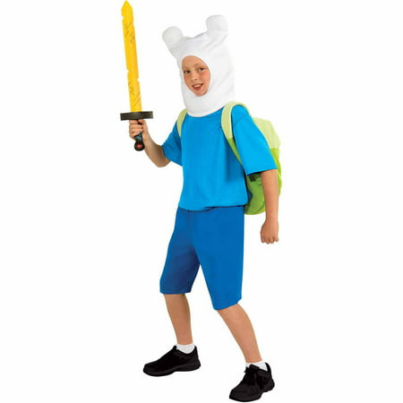Adventure Time Finn Deluxe Teen Halloween Costume](Halloween Time)