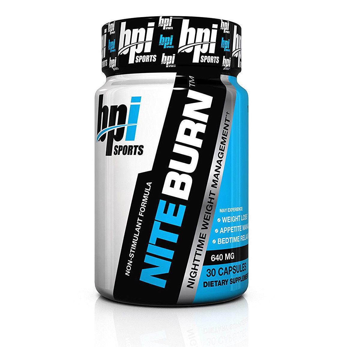 BPI Sports Nite Burn Nighttime Weight Management Formula 30 Count