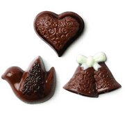 CybrTrayd Make 'N Mold 0256 Dove, Heart and Bell Minis Mold Chocolate Candy Mold with Cybrtrayd Copyrighted Instructions
