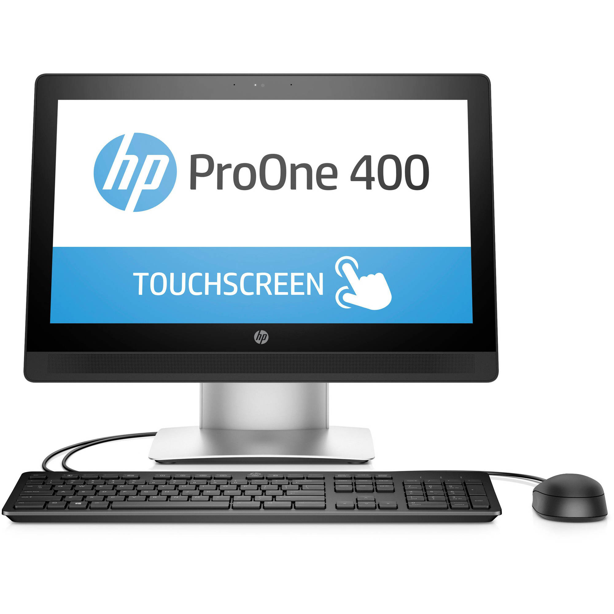 "HP ProOne 400 G1 P5U57UT All-in-One Desktop PC with Intel Core i3-6100 Processor, 4GB Memory, 20"" touch screen, 500GB Hard Drive and Windows 7 Professional"