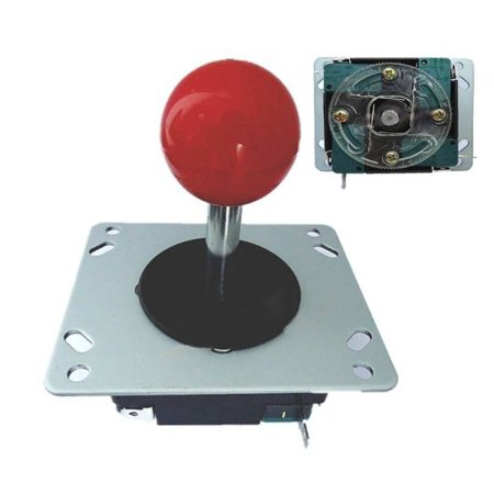 Arcade Joystick with Red Ball - Switchable from 8-way to 4-way operation JS19