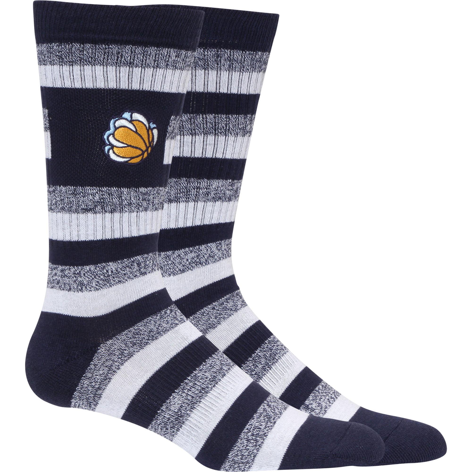 Memphis Grizzlies Step Crew Socks - L