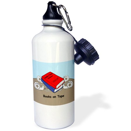 3Drose Books On Tape  Sports Water Bottle  21Oz