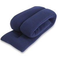 Sunny Bay Extra Long Neck Heating Wrap, Flax Seeds Filled Microwavable Heat Pad, Heated Neck Wrap (Navy Blue)