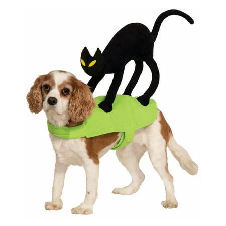 Cat On My Back Funny Pet Halloween Costume Accessory - Funny Cat In Halloween Costume