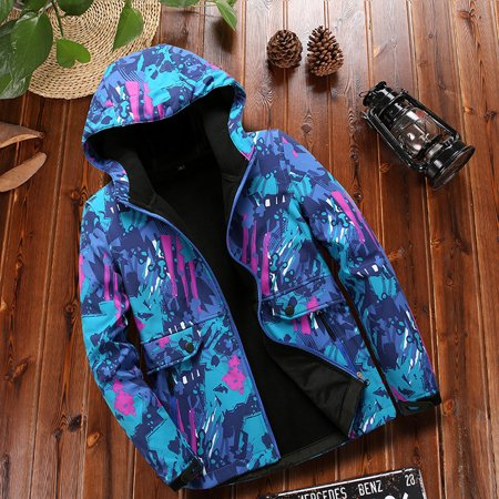 (Toponeto) Women's Fleece Inside Camouflage Soft shell Hoodie Outdoor Outfit Assault Coat thumbnail