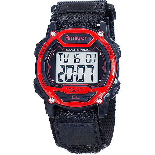 Armitron Women's Red Accent Digital Sport Watch