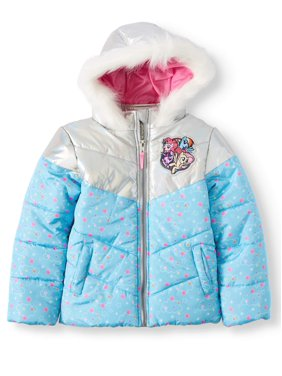 My Little Pony Metallic and Print Ski Jacket with Fur Trim Hood (Little Girls)