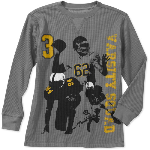 Faded Glory Boys' Long Sleeve Graphic Thermal